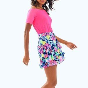 Lilly Pulitzer Nessa Skirt Nauti Navy Capri Soleil